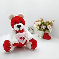 Плюшевый мишка- валентинка подарок на 14 февраля день влюбленных, фото 1