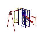 Детский спортивно игровой комплекс с качелями и горкой из нержавейки, фото 2