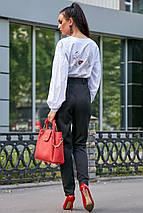 Гламурная молодежная рубашка с вышивкой на груди и спине /разные цвета, S-XL, SEV-1185.3620/, фото 3