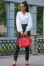 Гламурная молодежная рубашка с вышивкой на груди и спине /разные цвета, S-XL, SEV-1185.3620/, фото 2