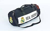 Сумка для тренировок с символикой футбольного клуба REAL MADRID, PL, р-р 53х25см., черный (GA-5633-4)