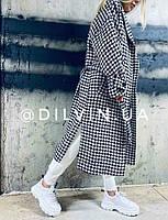 Женское модное пальто в клетку Dilvin