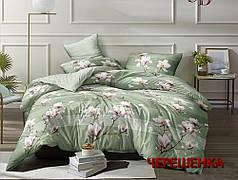 Полуторный набор постельного белья 150*220 из Сатина №1777 Черешенка™