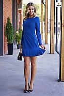 Коротке плаття з пишною спідницею до колін сині, фото 1