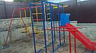 Спортивно игровой комплекс с горкой и качелями уличный, фото 8