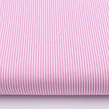 """Лоскут ткани с мелкой полоской """"Бамбук"""" розового цвета (№2271), фото 2"""