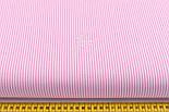 """Лоскут ткани с мелкой полоской """"Бамбук"""" розового цвета (№2271), фото 3"""