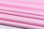 """Лоскут ткани с мелкой полоской """"Бамбук"""" розового цвета (№2271), фото 4"""