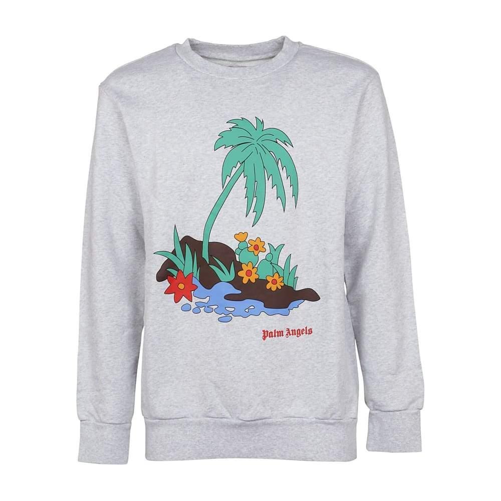 Свитшот серый Palm Angels color • кофта Палм Анжелс