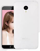 Силиконовый чехол для Meizu M3E белый прозрачный