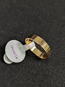 Кольцо Позолота 18К 4мм Размеры 15,5 - 20,5