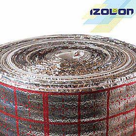 Полотно IZOLON AIR 3 мм, ламінований металізованою плівкою з розміткою під теплу підлогу, 1,0м