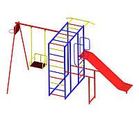 Игровой комплекс для детей на улицу с горкой и качелями