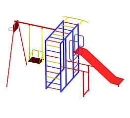 Ігровий комплекс для дітей на вулицю з гіркою і гойдалками