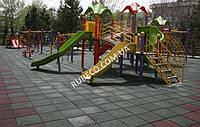 Покрытие из резины для детских площадок. Покрытие для детской площадки. Резиновая плитка черная
