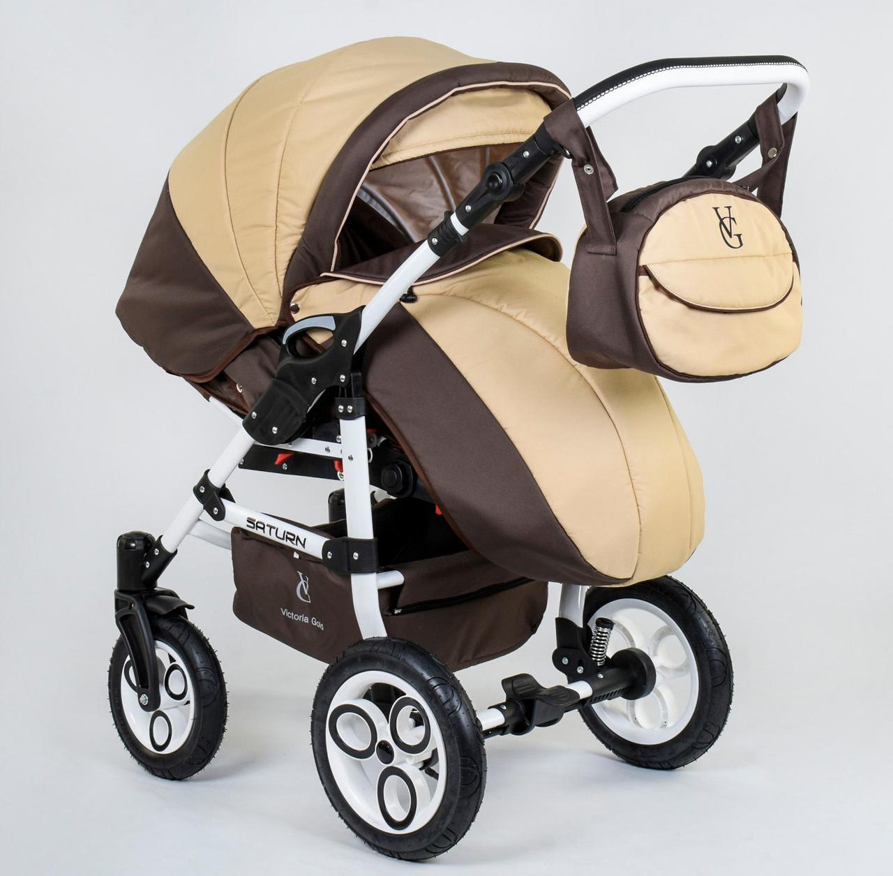 Коляска для детей Saturn № 0140-С90 цвет Шоколадно - Бежевый