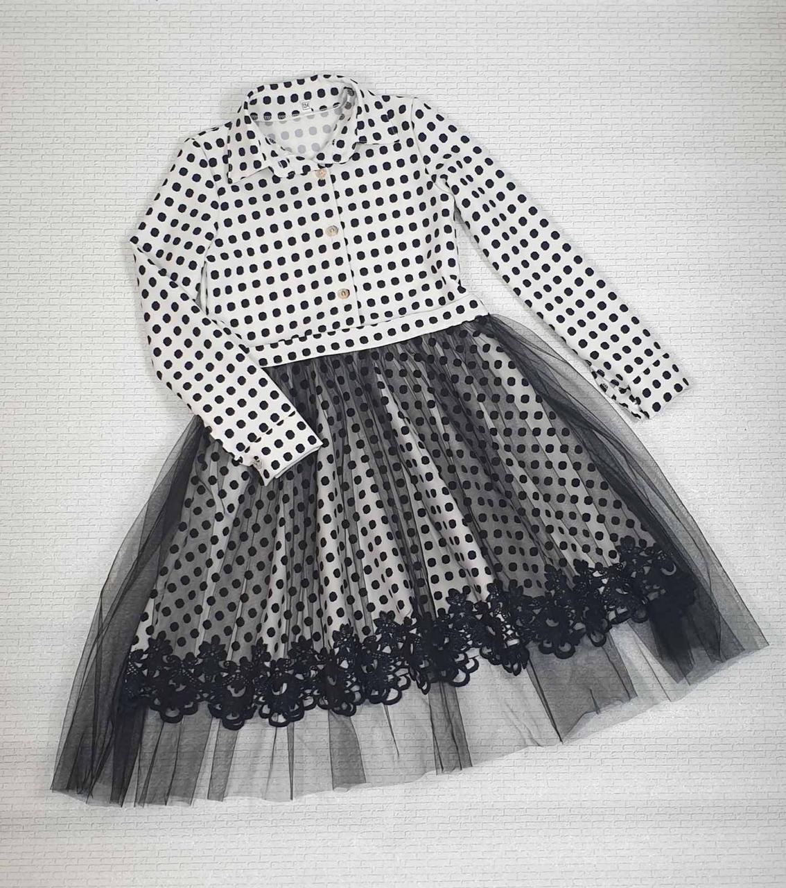 Платье для девочки рубашечного типа р. 134-146 опт