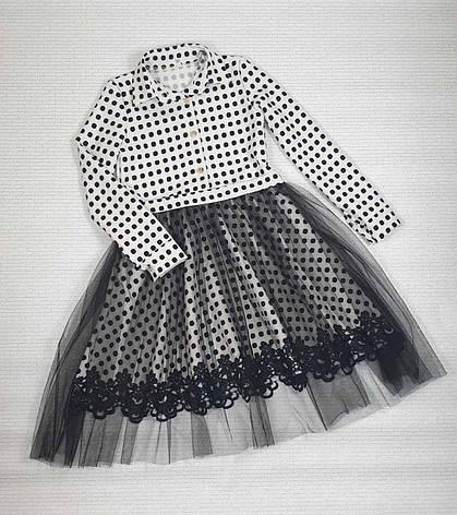 Платье для девочки рубашечного типа р. 134-146 опт, фото 2