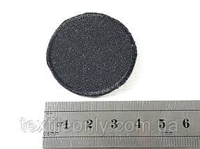 Нашивка круг цвет черный 40 мм