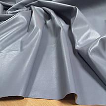 Ткань искусственная стрейч кожа серая, фото 3