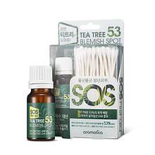 Точечное средство для проблемной кожи с чайным деревом AROMATICA Tea Tree 53 Blemish Spot, 10 мл