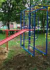 Игровой комплекс для детей на улицу с горкой и качелями, фото 8