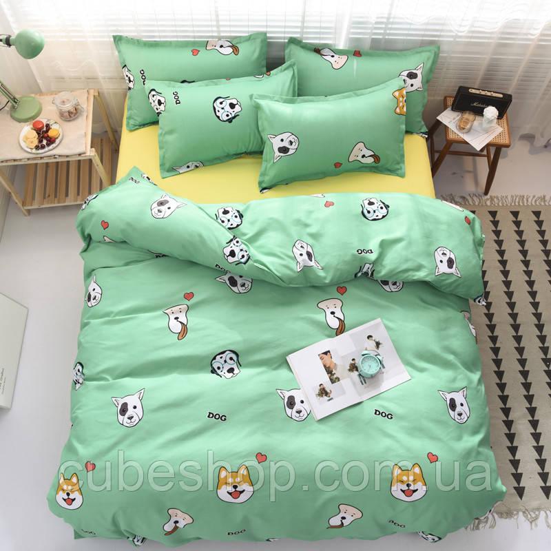 Полуторный комплект постельного белья Dog