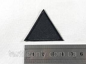Нашивка треугольник цвет черный 40х35 мм