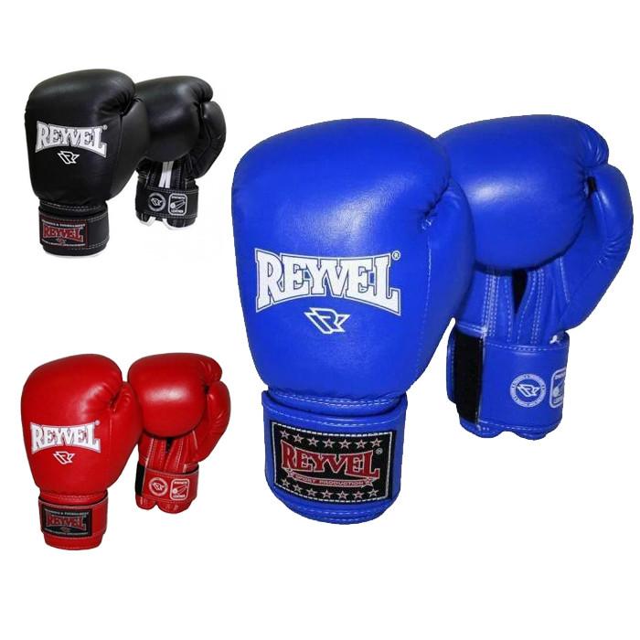 Перчатки для бокса Reyvel 14 oz винил (синие, красные, черные)