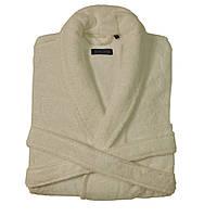 Женский махровый халат DOWNTOWN кремовый  S