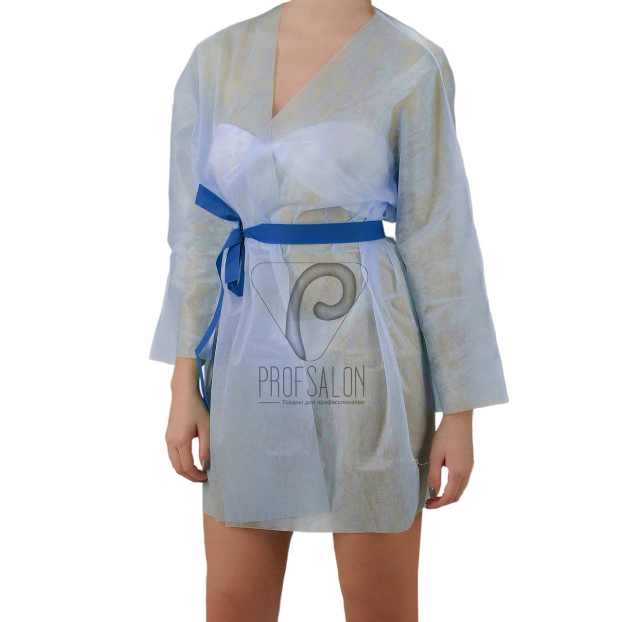 Куртка для прессотерапии с поясом, цвет - голубой