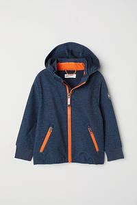 Куртка для мальчика синяя софтшел H&M р.98см (2-3года)