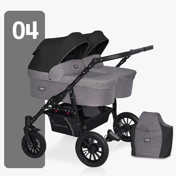 Детская универсальная коляска для двойни Riko Saxo 04