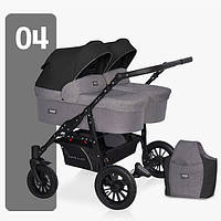 Детская универсальная коляска для двойни Riko Saxo 04, фото 1