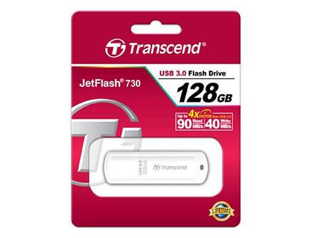 Флеш-накопитель USB3.0 128GB Transcend JetFlash 730 White (TS128GJF730), фото 2