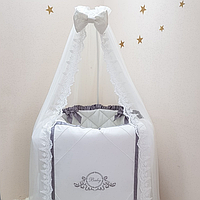 Детский постельный комплект Belissimo серый 6 предметов