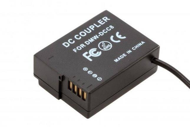 Сетевой адаптер DMW-AC8 + DMW-DCC8 (совместим с аккумулятором DMW-BLC12) для камер Panasonic, фото 2