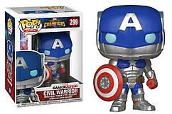 Фигурка Funko Pop Фанко Поп Капитан Америка Captain America Contest of Champions Civil Warrior КА CW299