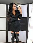 Жіноче шовкову сукню на запах з поясом (в кольорах), фото 5