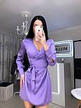 Жіноче шовкову сукню на запах з поясом (в кольорах), фото 8