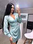 Жіноче шовкову сукню на запах з поясом (в кольорах), фото 9