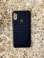 "Чехол ""Кожаное Плетение"" для Xiaomi Redmi Note 5, Black"