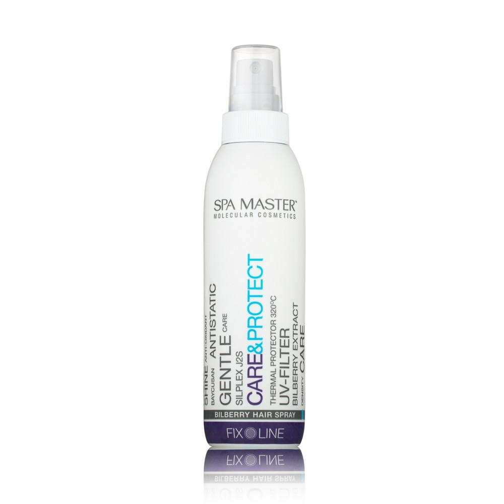 Термозащитный спрей для волос SM 124 200 мл, Spa Master care & protect bilberry hair spray, Спа Мастер
