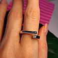 Серебряное кольцо День и Ночь - Кольцо женское минимализм серебро Инь-Янь, фото 3