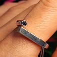 Серебряное кольцо День и Ночь - Кольцо женское минимализм серебро Инь-Янь, фото 2