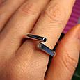 Серебряное кольцо День и Ночь - Кольцо женское минимализм серебро Инь-Янь, фото 5