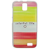 Чехол с рисунком Printed Plastic для Lenovo A328 Colorful life