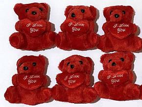 Мишка мягкая игрушка I love You 14см 1903109 (упаковка 12 штук)