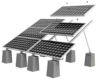 Готовая монтажная конструкция Walraven для 10-и солнечных батарей 5х2 (земля/плоская кровля)