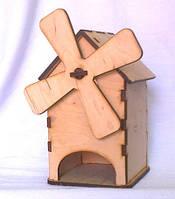 Домик для чайных пакетов малый Мельница